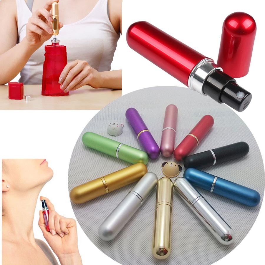 Travalo Refillable Travel Perfume Spray Bottle: 3× Mini Refillable Travel Perfume Atomizer Bottle Spray Scent Pump Case Color US