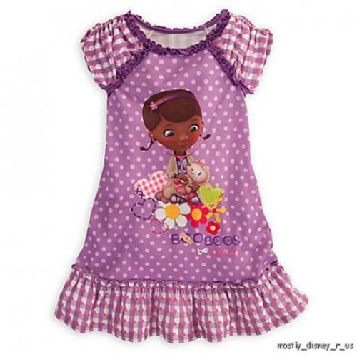 NEW-Disney-Store-Exclusive-Doc-McStuffins-Nightshirt-Pajamas-Nightgown