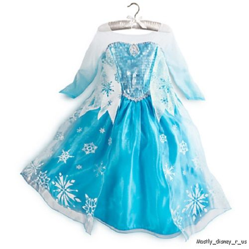 Disney-Store-Exclusive-Frozen-Princess-Elsa-Costume-Gown-Dress-Size-2-3-4-5-6