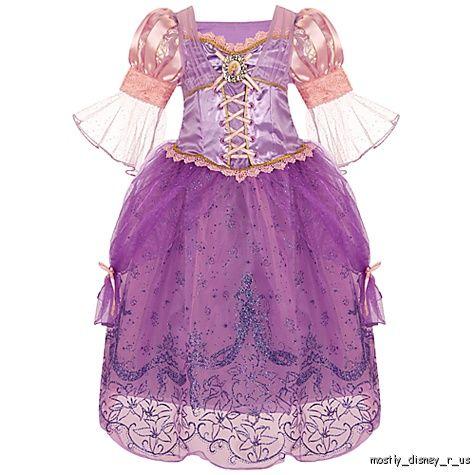 NEW-Disney-Store-Exclusive-Tangled-Princess-Rapunzel-Costume-Dress