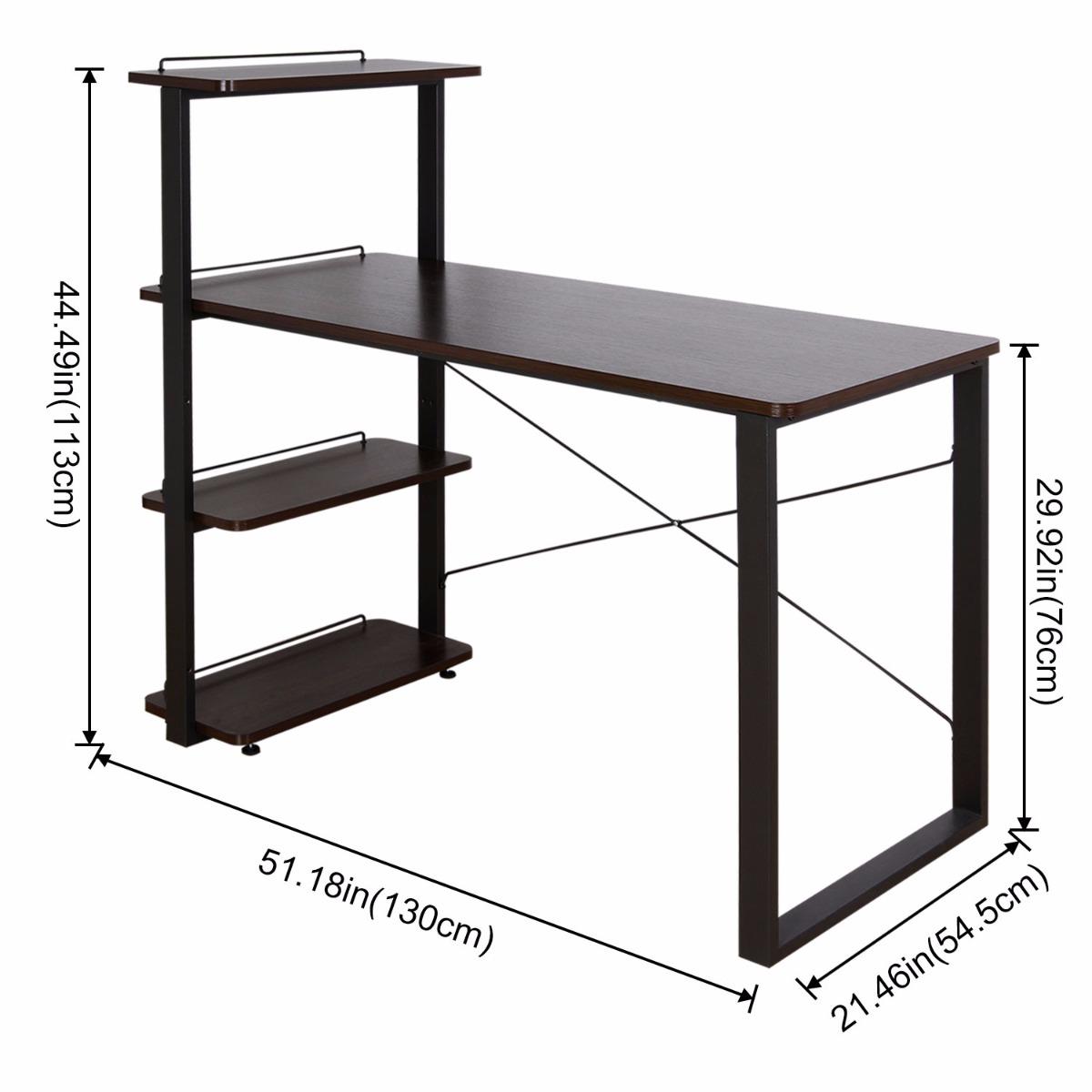 Lifewit bureau informatique avec etag re grande table d for Bureau informatique avec etagere