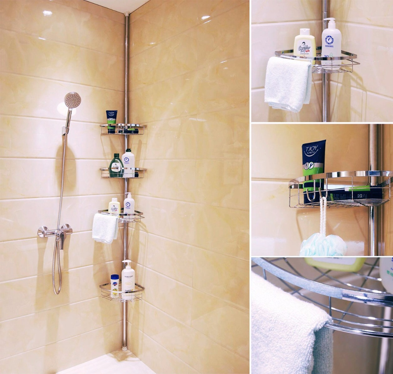 Shower Rack. Stunning Bathroom Caddy Holder Organizer Over Shower ...