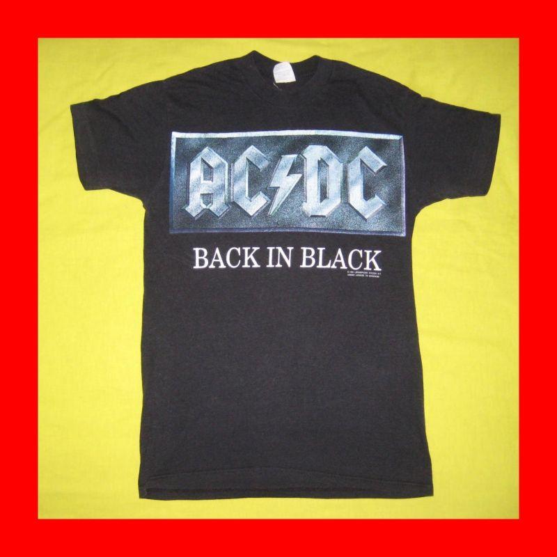 Vtg AC DC Back in Black T Shirt Tour Spring Ford 50 50
