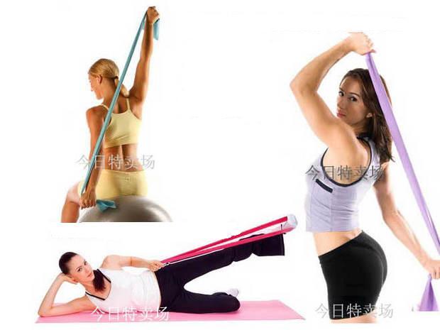 拉力带锻炼方法图解;