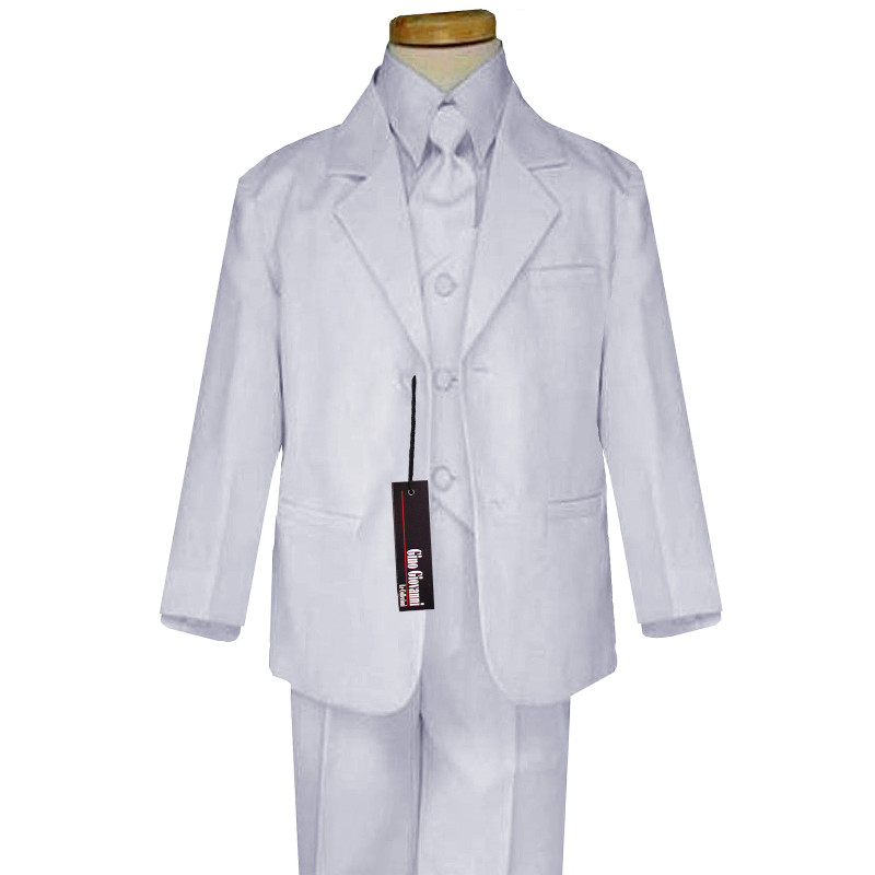 Boy-Formal-Baby-Communion-Black-White-Tuxedo-Suit-Size