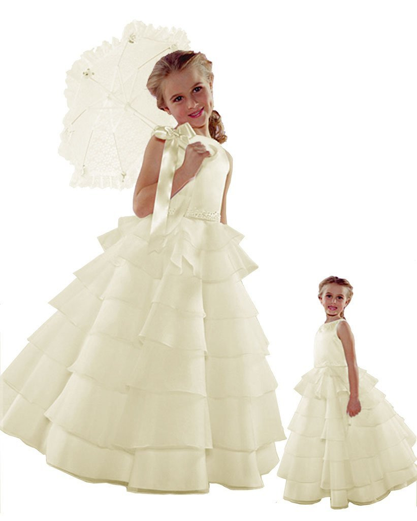 Sara Lene Flower Girl Wedding Layers Sleeveless Dress Baby to Teen at Sears.com