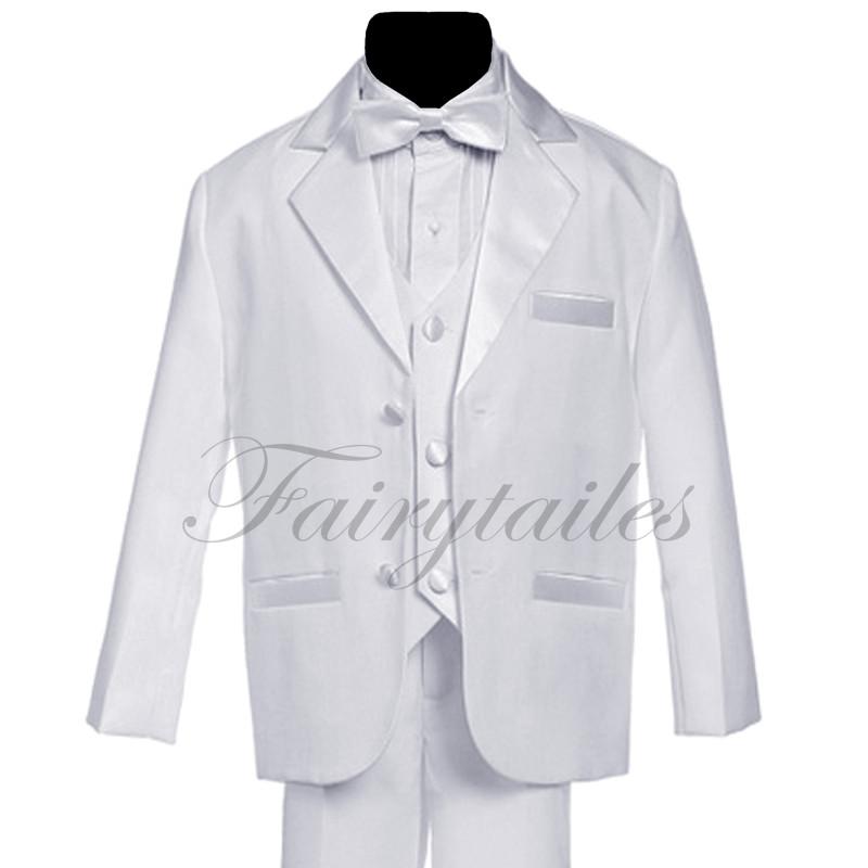 GINO-Boy-White-Usher-Tuxedo-Suit-Size-From-Baby-to-Teen