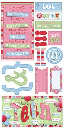 Bo Bunny 2 Hot 4 You Cardstock Stickers-Bo Bunny, 2 hot 4 you, love, valentine, cardstock stickers, scrapbooking, embellishments