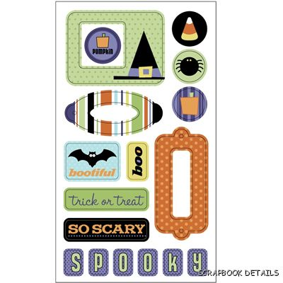 SEI Halloween Epoxy Stickers-SEI, halloween, die cuts, scrapbooking, card making, embellishments, stickers