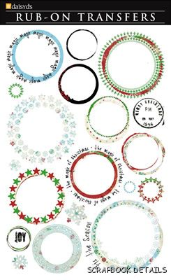 Daisy D's Holiday Paint Frames Rub Ons-daisy d's, daisy ds, holiday paint frames, rub ons, scrapbooking, embellishments, christmas