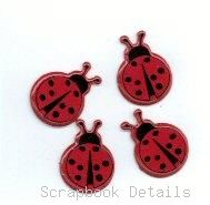Eyelet Outlet Lady Bug Brads-large lady but brads, critter bugs, scrapbooking, embellishments, shaped brads