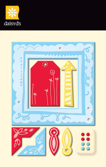 Daisy D's Wonder Years Boy Metal Frames & Brads-daisy d's, daisy ds, wonder years boy metal frames, brads,scrapbooking, embellishments