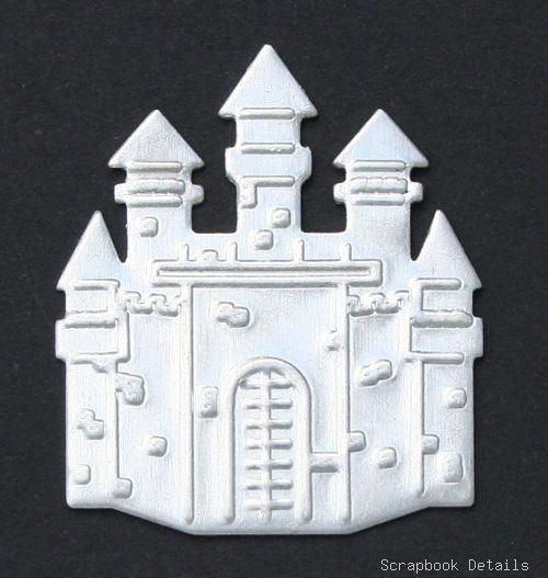 Scrapbook Details Castle Charms-disney, castle charms, mickey mouse, scrapbooking, embellishments, crafts, card making