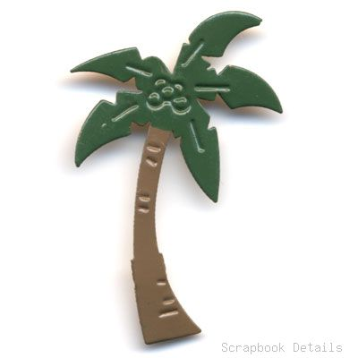 Palm Tree Brads (W)-beach, palm tree brads, summer, scrapbooking, embellishments, scrapbook details