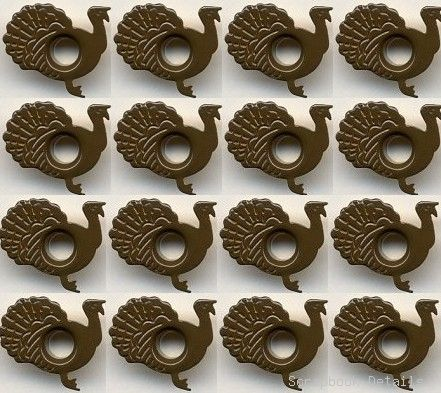 Turkey Eyelets (W)-turkey eyelets, card making, scrapbooking embellishments, thanksgiving