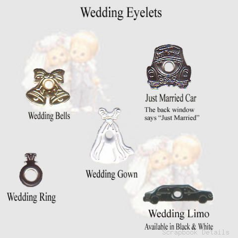 Scrapbook Details Assorted Wedding Eyelets-scrapbook details, assorted wedding eyelets, scrapbooking, embellishments
