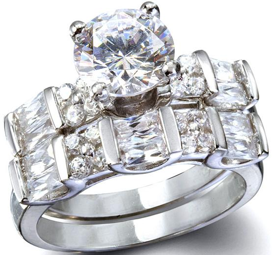details about engagement band wedding ring set bridal diamond