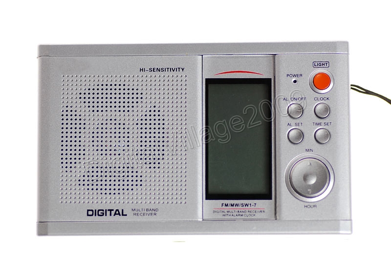 portable pocket multi band digital tuning radio receiver am fm sw w alarm clock ebay. Black Bedroom Furniture Sets. Home Design Ideas