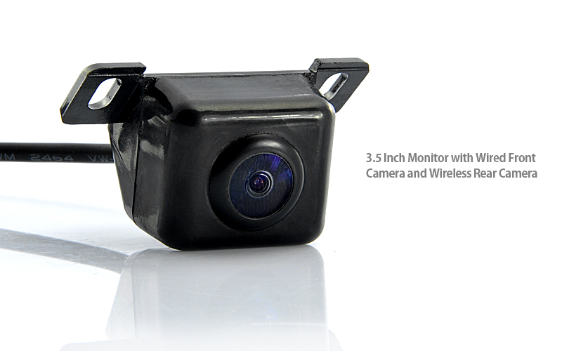 Wireless front view car camera