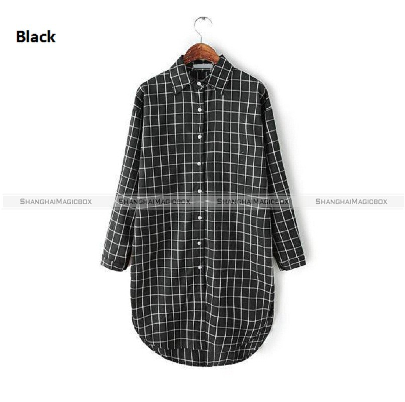 Women Plaid Long Sleeve Button Up Womens Shirt Blouse 4 Colors 10515608