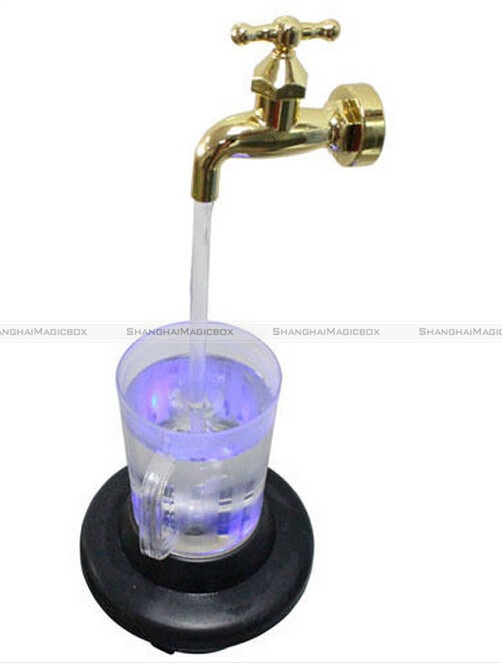 Led Magic Faucet Mug Color Water Floating Fountain Faucet Tap Night Light