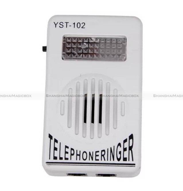 Extra-Loud-Phone-Telephone-Ringer-up-to-95dB-w-Strobe-Light-Flasher-Bell-Ringer