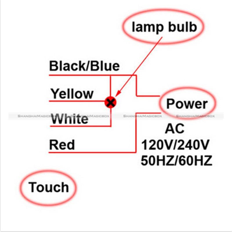 Ac 110v  220v Table Desk Light 3 Way Touch Control Sensor Bulb Lamp Switch Dimmer