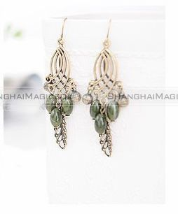 Women-Fashion-Retro-Bohemian-Tassel-Leaves-Droplet-Ear-Pin-Earring-FAEAR139