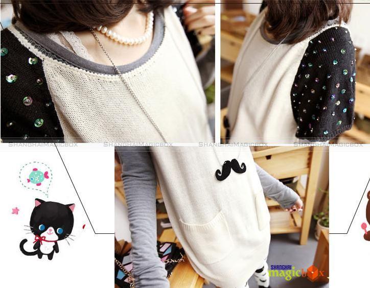 2012 Women Fashion Cute Mustache Design Necklace Sweater Chain New