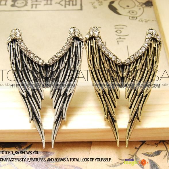 2012-Women-Trendy-Vintage-Punk-Style-Wing-Bling-Rhinestone-Ring-New-FARING021