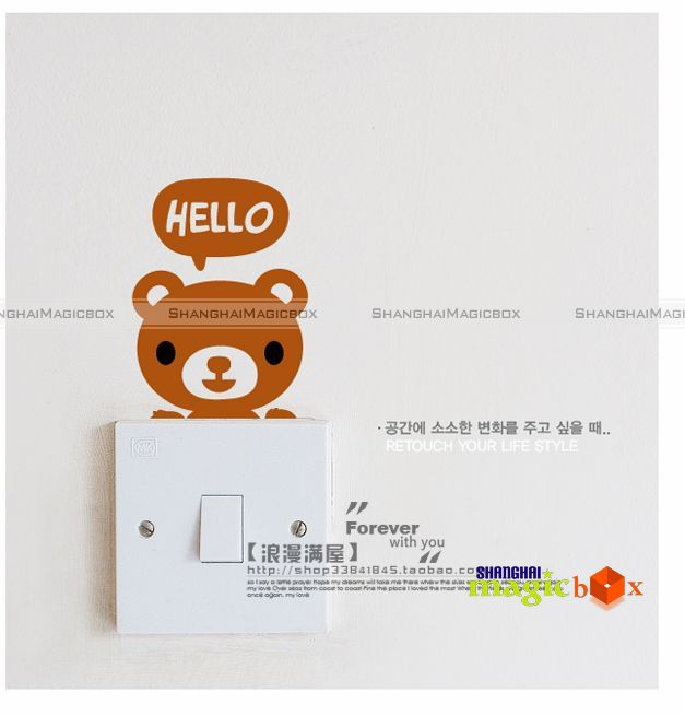 Lovely Cartoom Personality Animal Series Art Switch Wall Switch