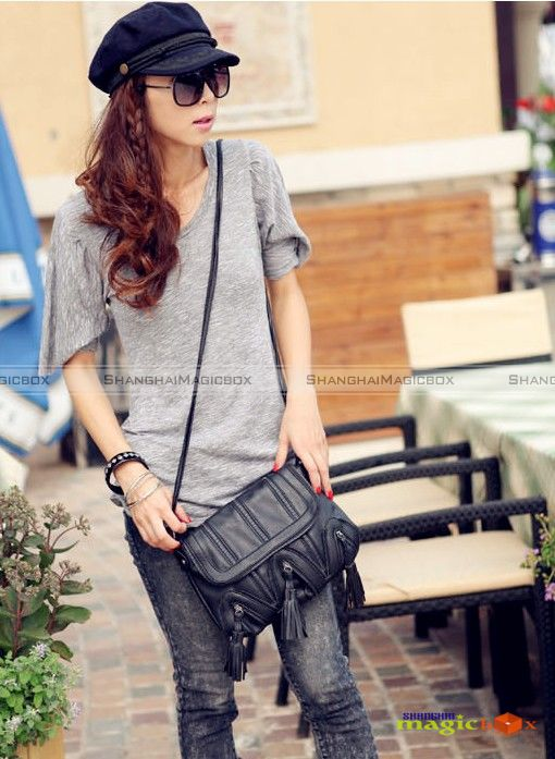 Women Vintage Tassel Crossbody Shoulder Bag New #608
