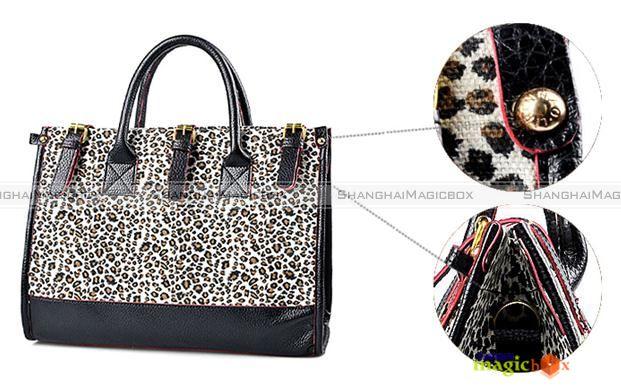 Леопардовая сумочка в корейском стиле.