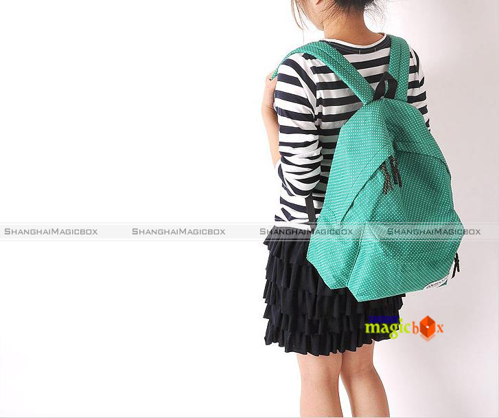 Women Men Fashion Cute Polka Dot School Book Campus Bag Backpack 5