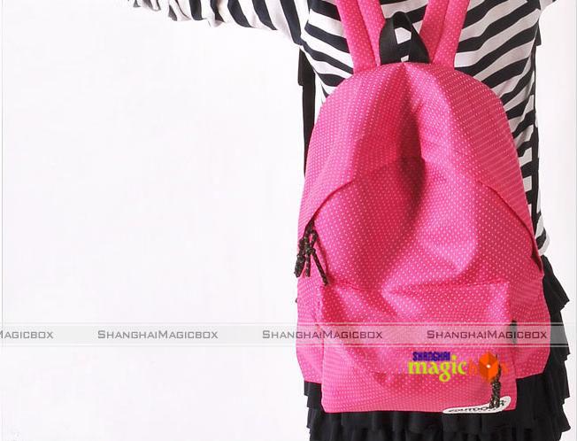 Women Men Fashion Cute Polka Dot School Book Campus Bag Backpack 5
