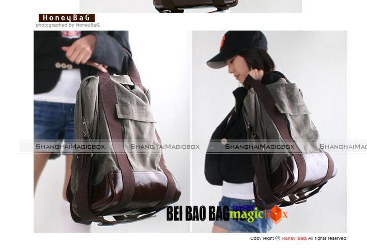Women Men Fashion Canvas School Book Campus Bag Backpack 10 Colors