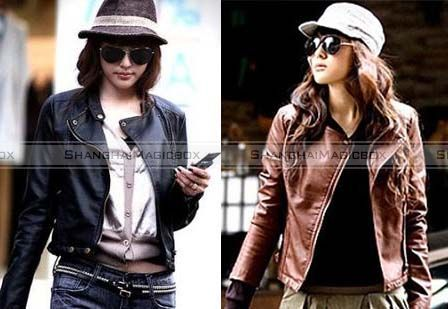 Women-Fashion-Casual-Vintage-Punk-Faux-Leather-Slim-Coat-Jacket-New-WCOT135