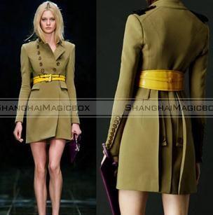 Green Trench Coat Womens Photo Album - Reikian
