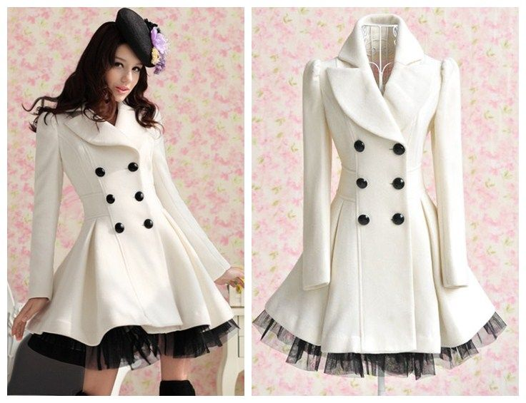 Women Fashion Vintage Double Breasted Trench Coat Dress Jacket