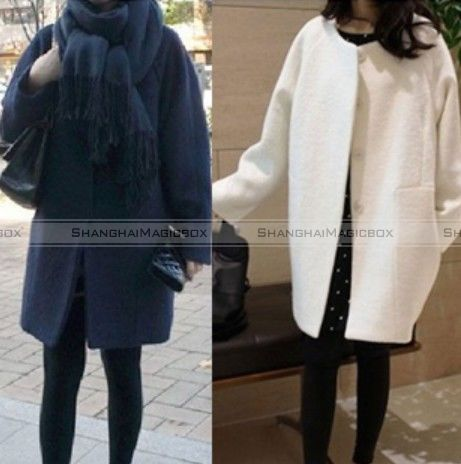 Women-Fashion-Loose-Long-Overcoat-Coat-Jacket-Casual-Outwear-Wool-Blend-WCOT261