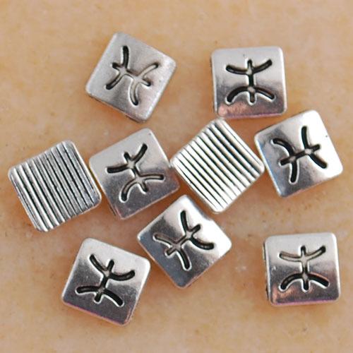 Eb1289-Eb2401 Wholesale Tibetan Silver Square charms