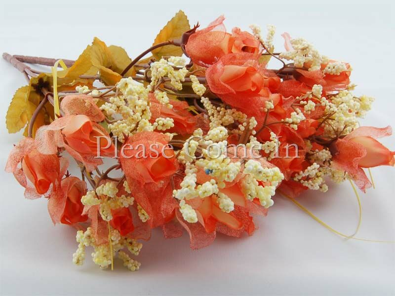 180-Artificial-Coral-Chiffon-Rose-Wedding-Home-Decorations