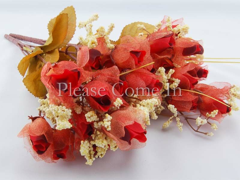 180-Artificial-Dark-Red-Chiffon-Rose-Wedding-Home-Decorations