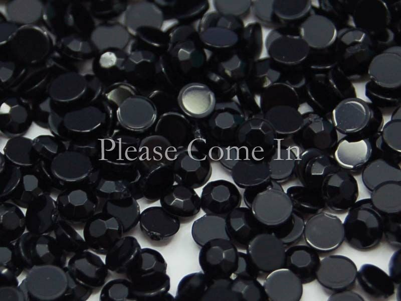 1000-Black-3mm-Rhinestone-Scrapbooking-Nail-Art