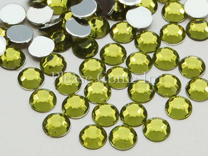 10-000-Willow-Green-Rhinestones-4mm-Scrapbooking