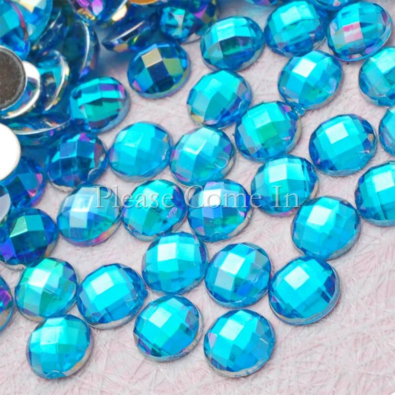 500-Rhinestone-5mm-Globe-Cut-AB-Sky-Blue-Scrapbooking-Wedding