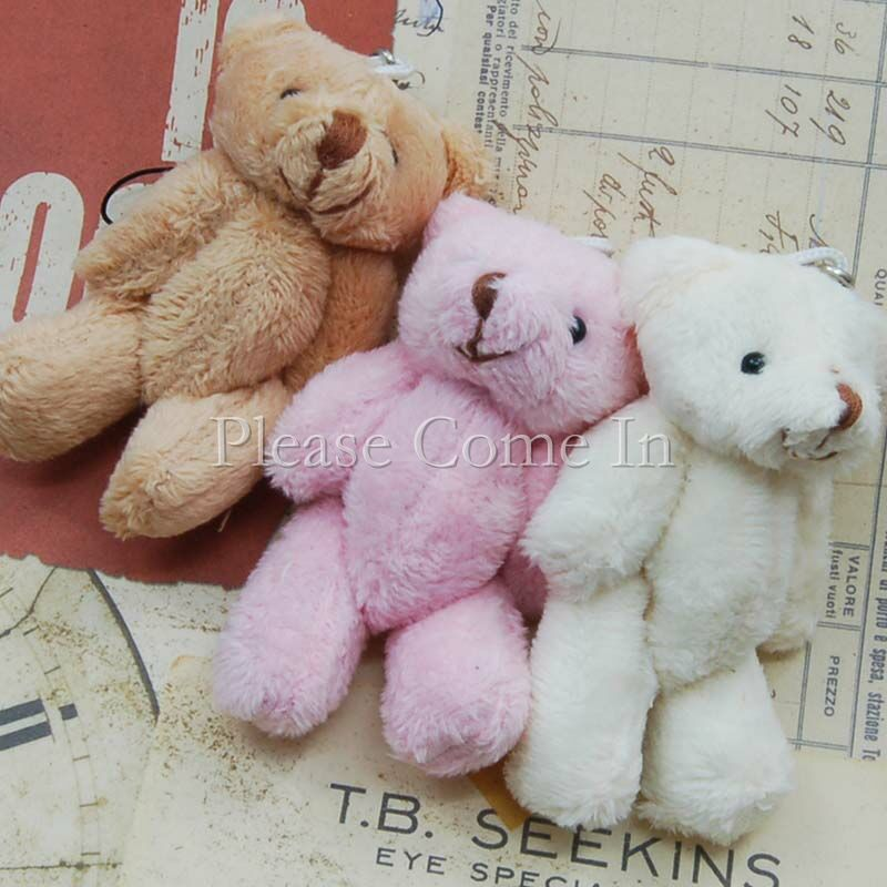 25-Mini-Plush-Teddy-Bear-Mixed-80mm