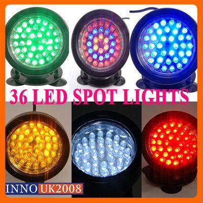 super 36 led strahler beleuchtung unterwasser lampe f r garten aquarium 5 farben ebay. Black Bedroom Furniture Sets. Home Design Ideas