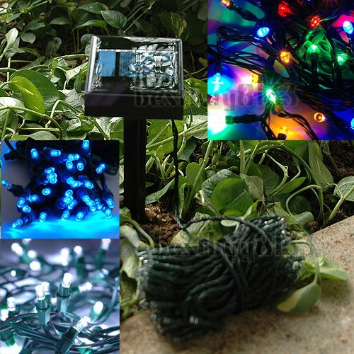 2-Mode-Multi-color-White-Blue-Outdoor-Solar-Panel-Christmas-String-LED-Light