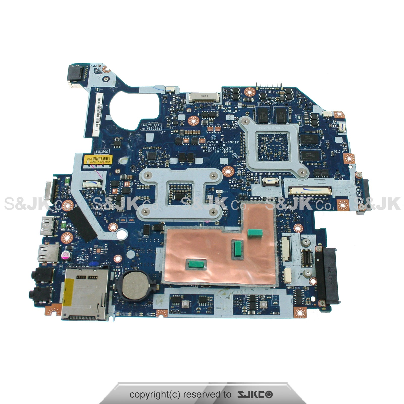 New Acer Aspire 5750g Intel Motherboard System Board Mb